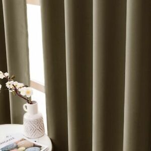 Modern Blackout Curtains Bedroom Window Treatment Drapes Solid Home Night