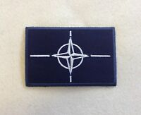 NATO Badge, Patch, With or Without Velcro, Army, Military, Arm, Sleeve, Blue