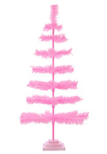 36'' Pink Barbie Tinsel Tree Valentine's Day Tree 3FT Table-Top XMASS
