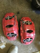 11 12 13 14 15 16 Porsche Cayenne GTS Front Calipers Red Painted w/o Ceramic