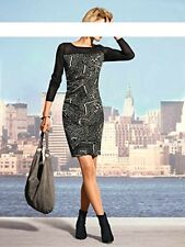 Druck-Kleid. MANDARIN by heine. Schwarz. Gr. 34. NEU!!! KP 79,90 €