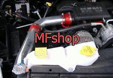 RED For 2PC 2002-2008 Dodge Ram 1500 3.7L V6 Cold Air Intake Kit + Filter