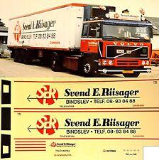Volvo Svend E. Riisager Danmark (DK) 1:87 camion autocollant décalcomanie
