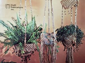 Vintage Wired for Macrame Pattern Book basket plant hangers wall hanging NOS '77