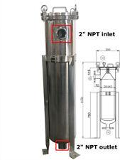"""TECHTONGDA  2 Bag Filter High Pressure Housing 304 SS 2"""" NPT 304 Stainless Steel"""