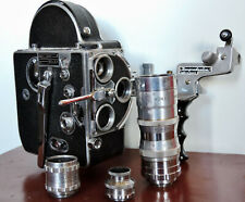 SUPERBE Caméra 16mm - PAILLARD BOLEX + Valise, poignée & 3 Objectifs