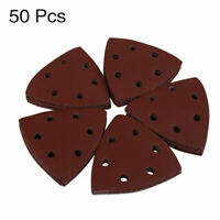 50 Pcs 3.5 Inch 6 Hole Hook and Loop Sanding Discs Sandpaper 320 Grit