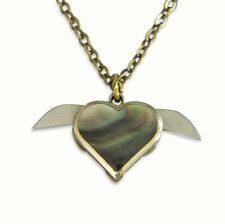 Tiny Secret Heart Double Knife Necklace
