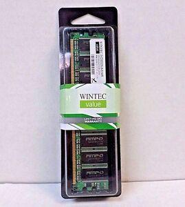 Wintec Value 3VD33325U8-51MR 512MB 333MHz DDR UDIMM Desktop Memory NOS SEALED