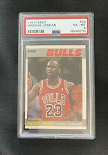 1987 Fleer Basketball Michael Jordan #59 PSA 6 EX-MT Super Sharp Corners