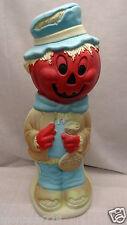 "34"" Pumpkin Head Scarecrow Lighted Halloween Blow Mold Outdoor Yard Decor"
