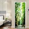 3D Sunshine Forest Landscape Self adhesive Bedroom Door Mural Wall Sticker Decor