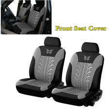 Par De Furry Plain Black coche cubiertas de asiento-se adapta a la mayoría de coches