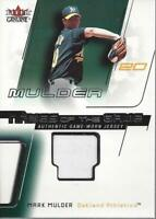 2002 Fleer Genuine Names of the Game Memorabilia #13 Mark Mulder Jersey  - NM-MT