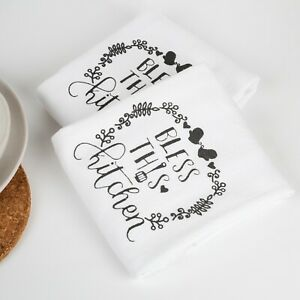 100% Cotton Set of 2 Absorbent Large Kitchen Tea Towels 50 x 70cm FREE DELIVERY*