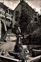 MEERSBURG Bodensee AK 50/60er Jahre alte Postkarte mit Staig mit Bären-Brunnen