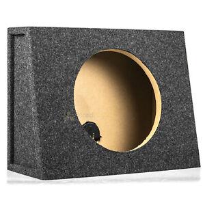 "Sealed 12"" Subwoofer Truck Box Slanted Enclosure Single Sub RI Audio 1"" MDF Face"