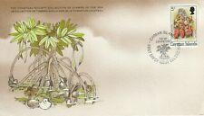 1980 Cayman Islands FDC card Water Flower