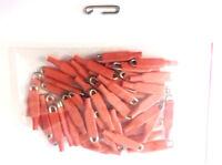 Enganches rápidos,100 und, de varilla acero inoxidable de 1,2mm rojo,rápidos.