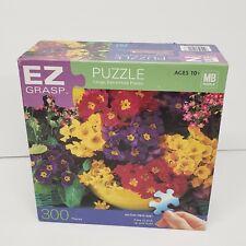 Milton Bradley 18x24 EZ Grasp Vibrant Hues Flowers 2005 Puzzle 300 Pieces