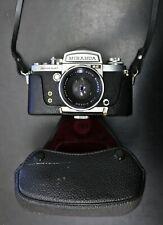 Untested Miranda Sensomat RE Film Camera With Case & Auto 50mm f/1.8 Lens