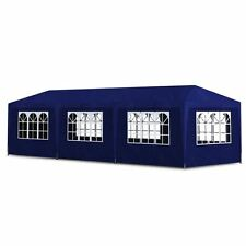 Outdoor 10'x30' Blue Canopy Party Tent Gazebo Pavilion Cater Events 8 Sidewalls