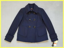 NWT $250 M60 MISS SIXTY NAVY WOOL BLEND DOUBLE BREASTED PEACOAT JACKET COAT XS
