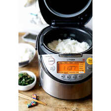 Tiger 10 Cup Induction Heat Rice Cooker with Slow Cooker, Bread Maker, Porridge