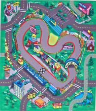 Racing Track Play Mat Game for Kids Felt Themed Mats 4 in Set Cars Trucks Trains