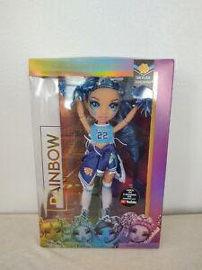 YouTube Rainbow High Cheer Skyler Bradshaw Blue Doll Pom Poms Cheerleader