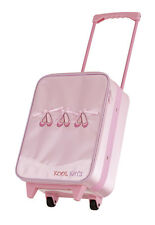 Girls Pink Satin Dance Ballet Jazz Trolley Bag Suitcase By Katz Dancewear KB32
