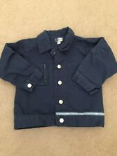 tk maxx Today Baby Navy Denim Look jacket 18-24 100% Cotton Trendy Next Day Post