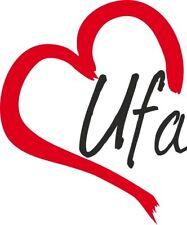"Auto Aufkleber "" Ufa "" Sticker Russland ca.9x7cm konturgeschnitten"