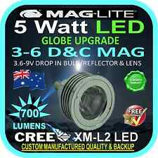 MAGLITE LED UPGRADE 3-6 C&D CREE 5W BULB GLOBE for TORCH FLASHLIGHT 3.6-9V 700lm
