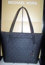MICHAEL KORS NWT Ciara Lg EW Top Zip Tote Shoulder Bag  Saffiano Lthr Black $348