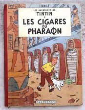 Tintin Les Cigares du Pharaon EO couleurs Belge B15 1955 Hergé
