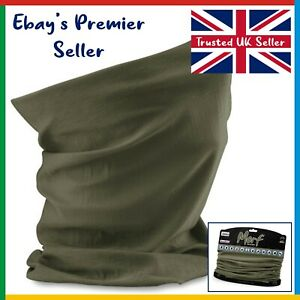 OLIVE GREEN Beechfield - 3 in 1 Face Cover Morf - Snood Scarf - Breathable Mask