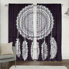 Cotton Dream Catcher Wall Hanging Door Window Curtain Twin Drape Valance Hippie
