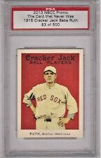 2013 NSCC PROMO THE CARD THAT NEVER WAS 1915 CRACKER JACK BABE RUTH 83/500