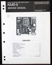 KENWOOD KMS-5 SERVICE MANUAL B51-3355-00 NO STINKING PDF/CD FREE SHIP