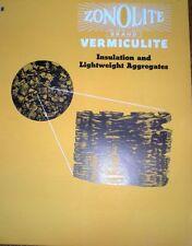 Zonolite Company Catalog VERMICULITE ASBESTOS 1950