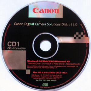 CANON DIGITAL CAMERA SOLUTIONS DISK 11.0 • OS 9 & OSX 10.1 • WINDOWS 98/2000/XP