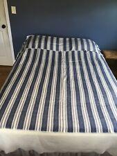 "Handmade Alpaca Blankets - Blue, Gray, White Full/Queen90"" x 70"""