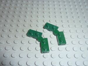 2 Charniere LEGO Dkgreen hinge plates Réf 2429 2430 Set 71239/76020/10242/41075