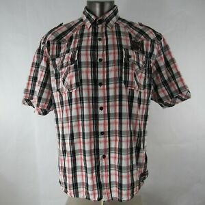 Raider Jean Co 1948 XXL 2XL Shirt Button Down Front Short Sleeve Checkered Mens