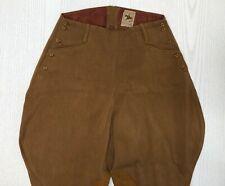 Vintage R.H. Macy & Co Inc Riding Pants Jodhpurs Brown Twill Suede Patch 28W