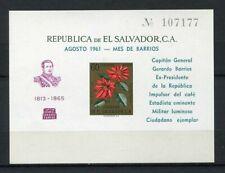 27345) EL SALVADOR 1960 MNH** Nuovi** Flowers gold ovptd Cpt Barrios