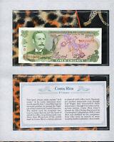 *Most Treasured Banknotes Costa Rica 1989 5 Colones UNC P 236d Prefix D
