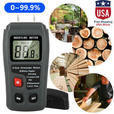 Digital Lcd Wood Moisture Meter Detector Tester Humidity 0 999 Hygrometer Test