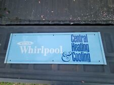 Vintage Whirlpool Air Conditioning Central Cooling Heating Sign AC Appliance